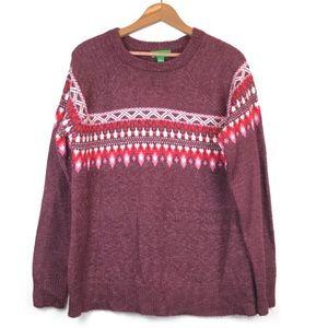 Dip Wool Blend Fairisle Sweater